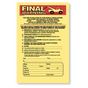 Final Warning Parking Violation