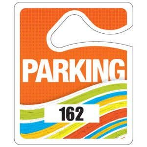Small Parking Hang Tag - Tangerine Wave