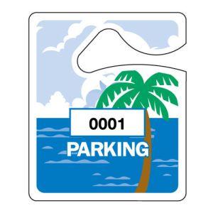 Small Parking Hang Tag - Palm Tree