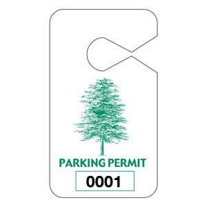 Large Parking Hang Tags - Green Tree