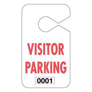 Large Parking Hang Tags - Visitor Parking