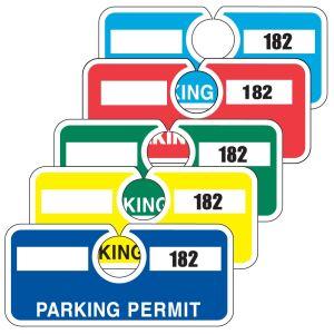 Horizontal Parking Hang Tag - Solid Colors