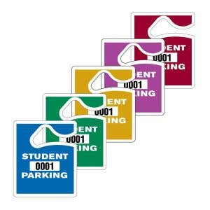 Student Parking Hang Tag - Solid Colors