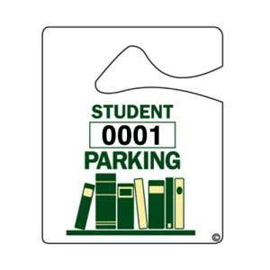 Student Small Parking Hang Tag - School Books