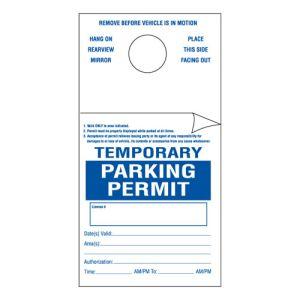 Temporary Parking Permit 2 Part