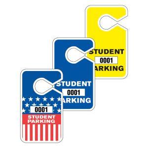 Student Parking Hang Tag - Large