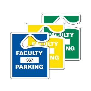 Faculty Parking Hang Tag - Solid Colors