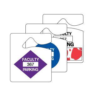 Faculty Parking Hang Tag - Shapes
