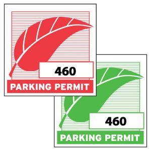 Square Inside Window Parking Sticker