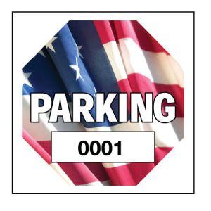 Hexagon Static Cling Window Parking Sticker
