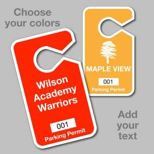 Custom Parking Hang Tag - Large - Solid Colors