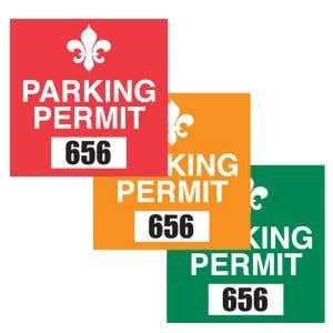 Square Static Cling Parking Permit