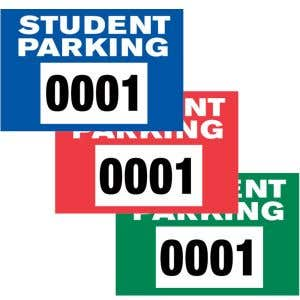 Student Static Cling Parking Sticker