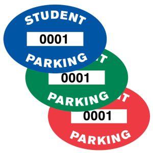 Student Inside Window Parking Sticker