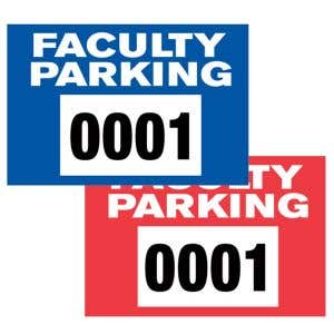 Faculty Static Cling Parking Sticker
