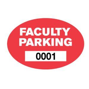 Faculty Outside Window Parking Sticker