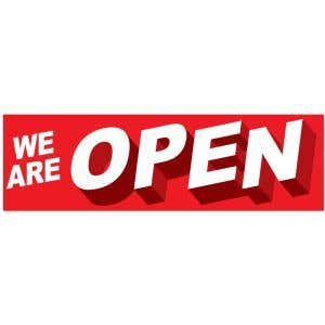 Banner - We Are Open Red
