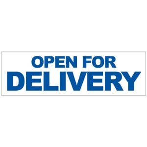 Banner - Open For Delivery