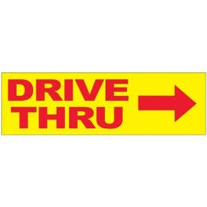 Banner - Drive Thru with Arrow