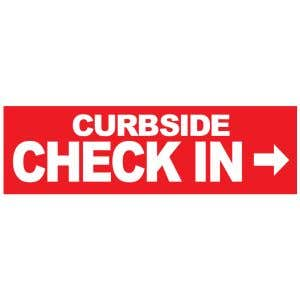 Banner - Curbside Check In with Arrow