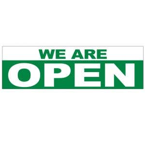 Banner - We Are Open Green