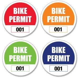 Bike Permit - Outside Adhesive - Circle