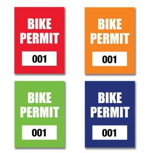 Bike Permit - Outside Adhesive - Rectangle