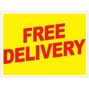 Free Delivery Yard Sign