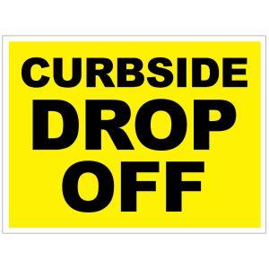 Curbside Drop Off Yard Sign