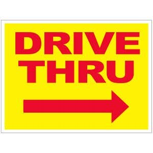 Drive Thru Yard Sign