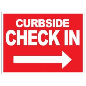 Curbside Check In Yard Sign
