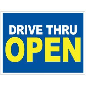 Drive Thru Open Yard Sign