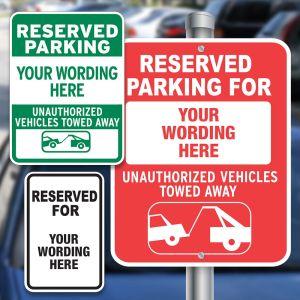 Custom Aluminum Signs - Reserved Parking