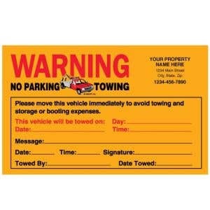 Imprinted Orange Fluorescent Parking Violation