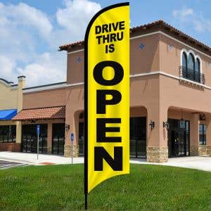 Drive Thru is Open Wave Flag Kit