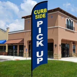 Curbside Pick Up Wave Flag Kit