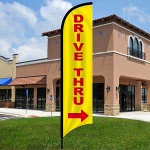 Drive thru with Arrow Wave Flag Kit