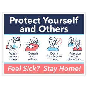 Self-Adhesive Wall Sign - Protect Yourself
