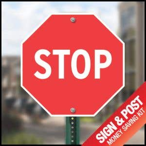 Buy sign and post together to save BIG.