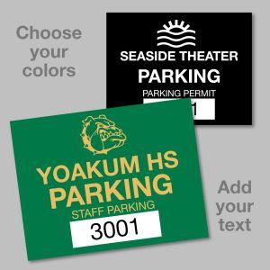 "Custom Parking Permit - Rectangle 2.5"" X 2"""