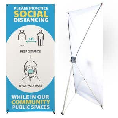Standing X Banner Kit - Large