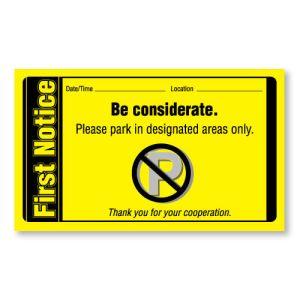First Notice Violation