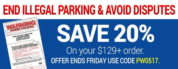 20% off $129+ orders Parking Violation Stickers
