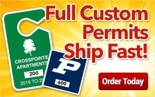 Custom Permits Ship Fast