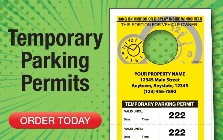 Full Custom Parking Permits Ship Fast